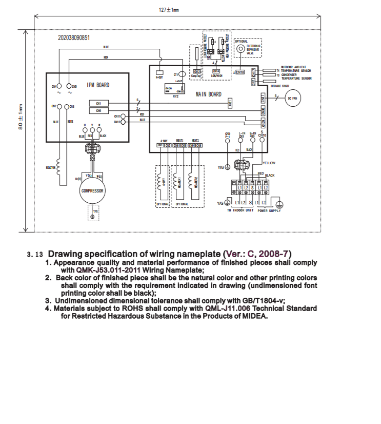 [SCHEMATICS_4ER]  Installation cables | T1 Wire Diagram |  | Thermocore Systems