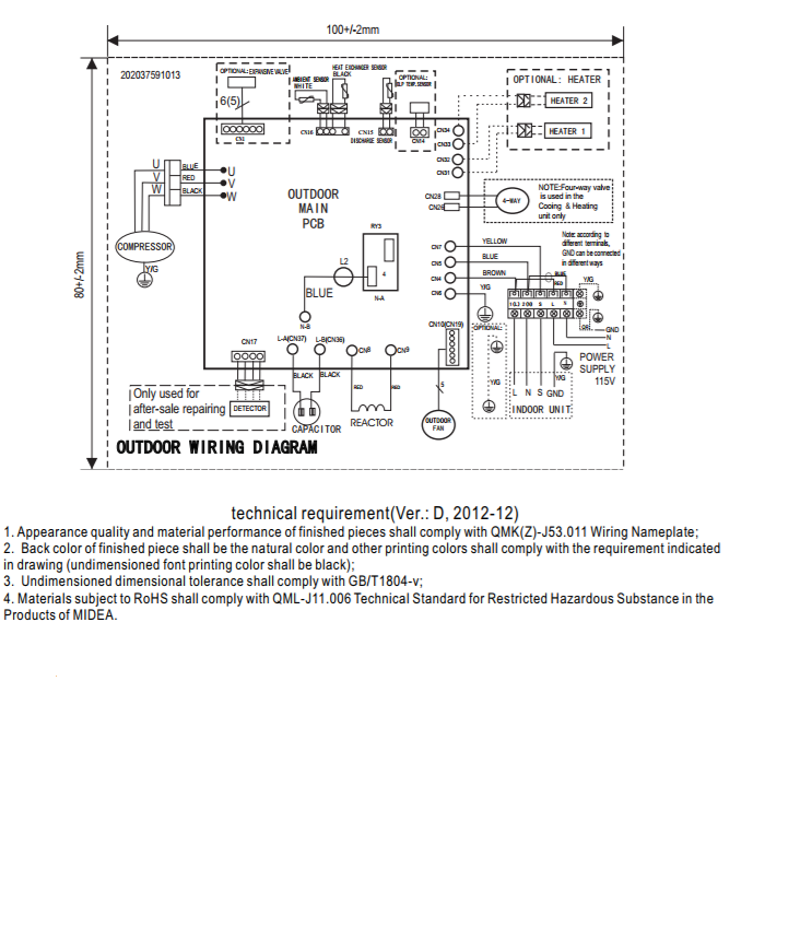 [DHAV_9290]  Installation cables | T1 Wire Diagram |  | Thermocore Systems